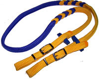 Custom Reins created / made by Rainmaker Ropes, supplied by Club Colours Direct
