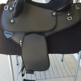 Synthetic Half Breed Saddle